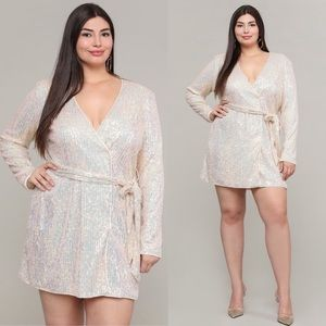 Dresses & Skirts - Champagne Campaign Plus Size Sequin Dress